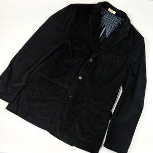 J. Crew Holmes Sport Coat Black Corduroy